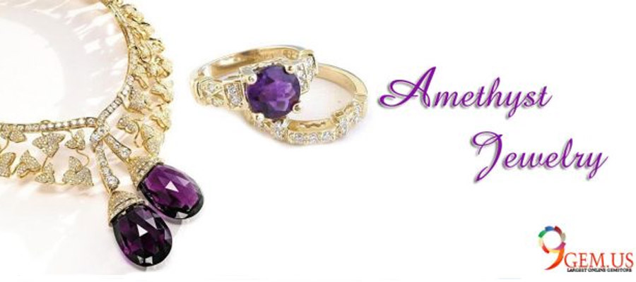Amethyst Stone Jewelry Perfect Gift For Your Bride Or Girlfriend