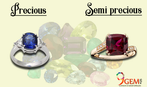 Difference between precious and semi-precious gemstones